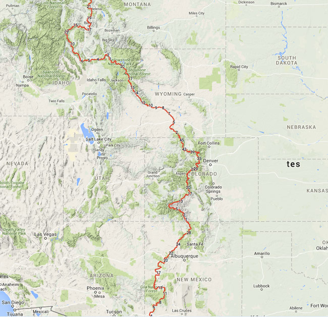 South Fork Is Continental Divide Trail Gateway Community - Cdt trail map