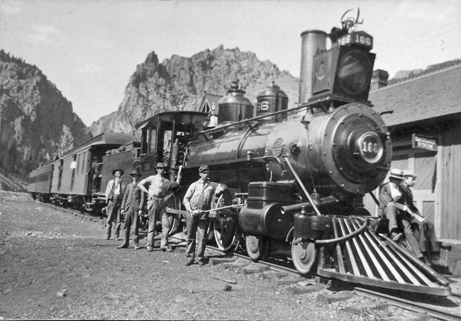 Old train in Creede