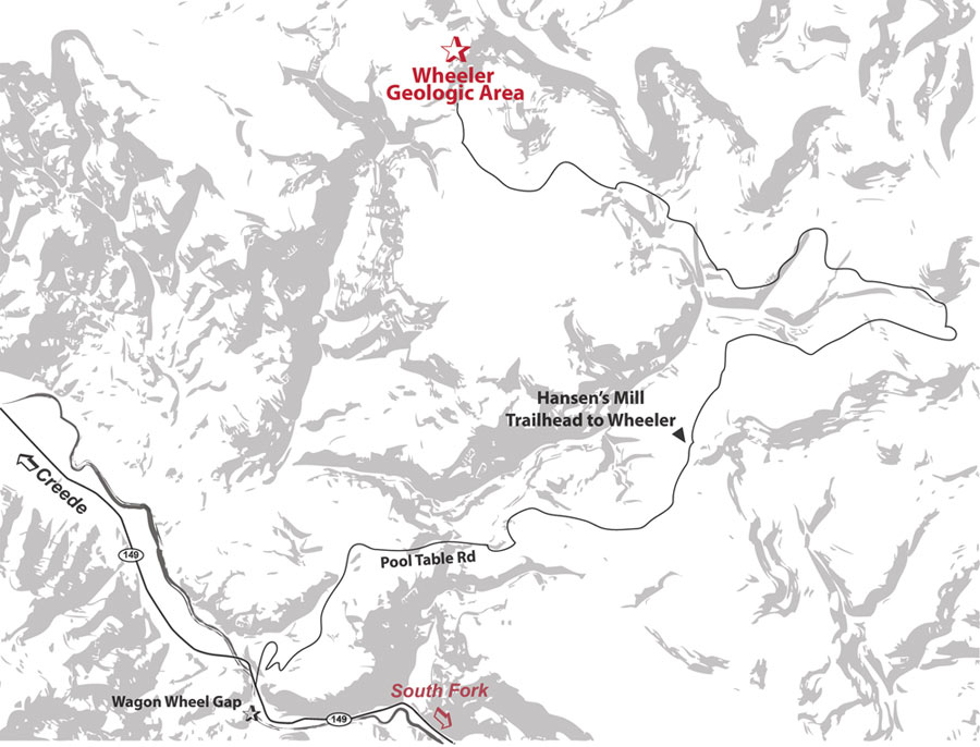 Wheeler geologic area map