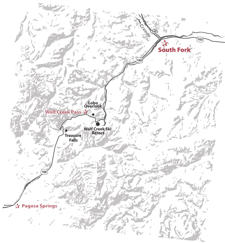 wolf creek pass map