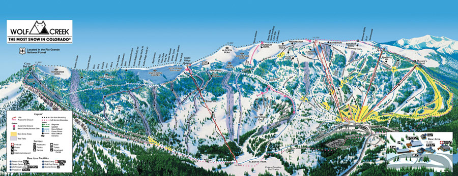 wolf creek ski area map